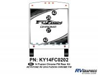 2014 Fuzion Chrome FW Rear Graphics Kit