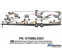 Bullet - 2009 Bullet TT-Travel Trailer - 25 Piece 2009 Bullet TT Roadside Graphics Kit