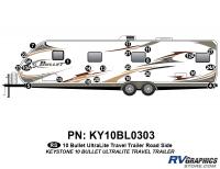 Bullet - 2010 Bullet TT-Travel Trailer - 24 Piece 2010 Bullet TT Roadside Graphics Kit