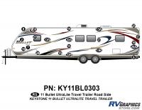 2011 Bullet Travel Trailer Roadside Graphics Kit