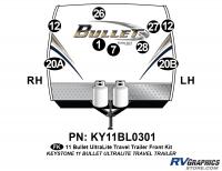 2011 Bullet Travel Trailer Front Graphics Kit