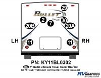 2011 Bullet Travel Trailer Rear Graphics Kit