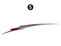 Raptor - 2009 Raptor Velocity FW-Fifth Wheel - Upper Printed Spear