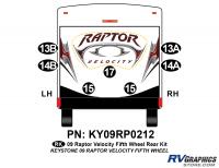 Raptor - 2009 Raptor Velocity FW-Fifth Wheel - 7 Piece 2009 Raptor Velocity Rear Graphics Kit