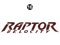 Raptor - 2009 Raptor Velocity FW-Fifth Wheel - Side Raptor Velocity Logo