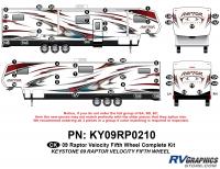 Raptor - 2009 Raptor Velocity FW-Fifth Wheel - 50 Piece 2009 Raptor Velocity Complete Graphics Kit