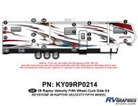 Raptor - 2009 Raptor Velocity FW-Fifth Wheel - 19 Piece 2009 Raptor Velocity Curbside Graphics Kit