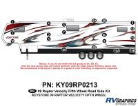 Raptor - 2009 Raptor Velocity FW-Fifth Wheel - 19 Piece 2009 Raptor Velocity Roadside Graphics Kit