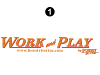 Work and Play - 2012 Work and Play FW-Fifth Wheel - Large Work and Play Logo