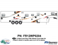 Work and Play - 2012 Work and Play FW-Fifth Wheel - 8 Piece 2013 Work and Play Curbside Graphics Kit