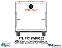 Work and Play - 2012 Work and Play FW-Fifth Wheel - 1 Piece 2013 Work and Play Rear Graphics Kit