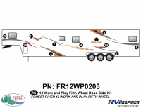 Work and Play - 2012 Work and Play FW-Fifth Wheel - 8 Piece 2013 Work and Play Roadside Graphics Kit