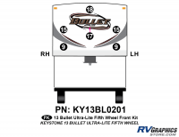 6 Piece 2013 Bullet Fifth Wheel Front Graphics Kit