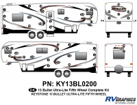 42 Piece 2013 Bullet Fifth Wheel Complete Graphics Kit