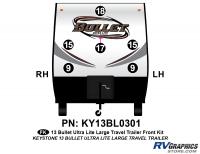 Bullet - 2012-2013 Bullet Lg TT-Large Travel Trailer - 6 Piece 2013 Bullet Lg Travel Trailer Front Graphics Kit