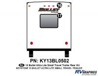Bullet - 2012-2013 Bullet Sm TT-Small Travel Trailer - 2 Piece 2013 Bullet Sm Travel Trailer Rear Graphics Kit