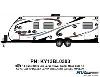 Bullet - 2012-2013 Bullet Lg TT-Large Travel Trailer - 17 Piece 2013 Bullet Lg Travel Trailer Roadside Graphics Kit