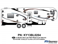 17 Piece 2013 Bullet Fifth Wheel Curbside Graphics Kit