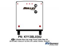 Bullet - 2012-2013 Bullet Lg TT-Large Travel Trailer - 2 Piece 2013 Bullet Lg Travel Trailer Rear Graphics Kit
