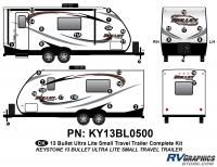 Bullet - 2012-2013 Bullet Sm TT-Small Travel Trailer - 42 Piece 2013 Bullet Sm Travel Trailer Complete Graphics Kit