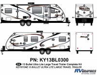Bullet - 2012-2013 Bullet Lg TT-Large Travel Trailer - 42 Piece 2013 Bullet Lg Travel Trailer Complete Graphics Kit
