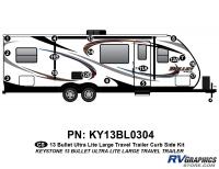 Bullet - 2012-2013 Bullet Lg TT-Large Travel Trailer - 17 Piece 2013 Bullet Lg Travel Trailer Curbside Graphics Kit