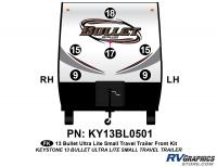 Bullet - 2012-2013 Bullet Sm TT-Small Travel Trailer - 6 Piece 2013 Bullet Sm Travel Trailer Front Graphics Kit