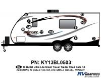 Bullet - 2012-2013 Bullet Sm TT-Small Travel Trailer - 17 Piece 2013 Bullet Sm Travel Trailer Roadside Graphics Kit
