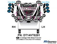 Voltage - 2014 Voltage FW-Fifth Wheel - 22 Piece 2014 Voltage Fifth Wheel Front Graphics Kit
