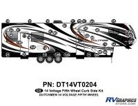 Voltage - 2014 Voltage FW-Fifth Wheel - 36 Piece 2014 Voltage Fifth Wheel Curbside Graphics Kit