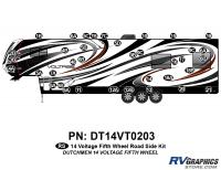 Voltage - 2014 Voltage FW-Fifth Wheel - 36 Piece 2014 Voltage Fifth Wheel Roadside Graphics Kit