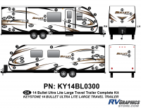 Bullet - 2014-2015 Bullet Lg TT-Large Travel Trailer - 55 piece 2014 Bullet Lg Travel Trailer Complete Graphics Kit