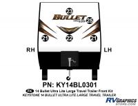Bullet - 2014-2015 Bullet Lg TT-Large Travel Trailer - 5 piece 2014 Bullet Lg Travel Trailer Front Graphics Kit