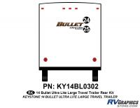 Bullet - 2014-2015 Bullet Lg TT-Large Travel Trailer - 2 piece 2014 Bullet Lg Travel Trailer Rear Graphics Kit