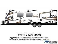 Bullet - 2014-2015 Bullet Lg TT-Large Travel Trailer - 24 piece 2014 Bullet Lg Travel Trailer Roadside Graphics Kit