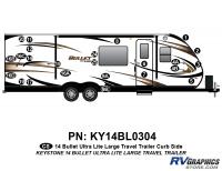 Bullet - 2014-2015 Bullet Lg TT-Large Travel Trailer - 24 piece 2014 Bullet Lg Travel Trailer Curbside Graphics Kit