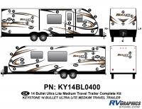 Bullet - 2014-2015 Bullet Med TT-Medium Travel Trailer - 53 piece 2014 Bullet Med Travel Trailer Complete Graphics Kit