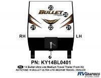 Bullet - 2014-2015 Bullet Med TT-Medium Travel Trailer - 5 piece 2014 Bullet Med Travel Trailer Front Graphics Kit