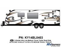 Bullet - 2014-2015 Bullet Med TT-Medium Travel Trailer - 23 piece 2014 Bullet Med Travel Trailer Roadside Graphics Kit