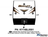 Bullet - 2014-2015 Bullet Sm TT-Small Travel Trailer - 5 piece 2014 Bullet Med Travel Trailer Front Graphics Kit