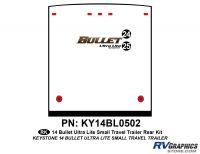 Bullet - 2014-2015 Bullet Sm TT-Small Travel Trailer - 2 piece 2014 Bullet Med Travel Trailer Rear Graphics Kit