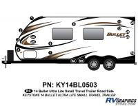 Bullet - 2014-2015 Bullet Sm TT-Small Travel Trailer - 17 piece 2014 Bullet Med Travel Trailer Roadside Graphics Kit