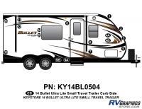 Bullet - 2014-2015 Bullet Sm TT-Small Travel Trailer - 17 piece 2014 Bullet Med Travel Trailer Curbside Graphics Kit
