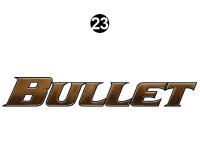 Bullet - 2014-2015 Bullet Sm TT-Small Travel Trailer - Large Bullet Logo