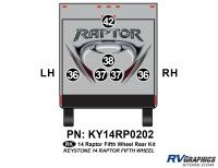 6 Piece 2014 Raptor Fifth Wheel Rear Graphics Kit