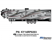 34 Piece 2014 Raptor Fifth Wheel Roadside Graphics Kit