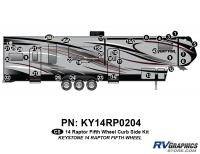 34 Piece 2014 Raptor Fifth Wheel Curbside Graphics Kit