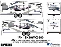 32 Piece 2010 Weekender Lg TT Complete Graphics Kit