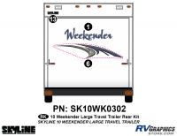 3 Piece 2010 Weekender Lg TT  Rear Graphics Kit