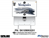 3 Piece 2010 Weekender FW Front Graphics Kit